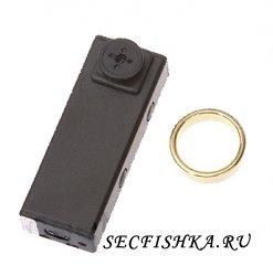 Оригинальная шпионская миникамера с управлением в кольце